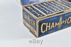 10 New Vintage Champion Y-4 Spark Plug Original Store Display Garage Man Cave