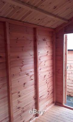 10x10 WOODEN WORKSHOP GARAGE FULLY T&G SHED STORE 10FT X 10FT APEX OR PENT ROOF