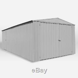 10x20 ABSCO METAL GARAGE WORKSHOP SHED APEX SNAP ZINC SILVER STORE 10FT 20FT