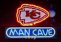 13x8 Kansas City Chiefs Man Cave Neon Beer Sign Light Lamp Bar Garage Store