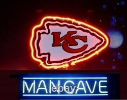 13x8 Man Cave Kansas City Chiefs Neon Beer Sign Light Lamp Bar Garage Store A
