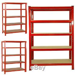 1/2/3/4/5/6x Units 5 Tiers Heavy Duty Shelving Storage Racking for Stores/Garage