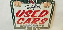24 Salesman Easy Terms Used Car Service Garage store display Ad USA Steel sign