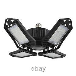 2pcs LED Garage Light Bulb Foldable 150W Vintage Style Office Store Black
