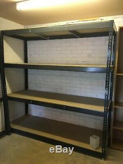 4 Shelf Racking, Garage, Store, warehouse Racking good condition (Listing A)