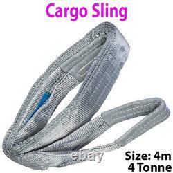 4m 4 Tonne (4000KG) Flat Webbing Strong Cargo Sling -Lifting Crane Hoist Strap