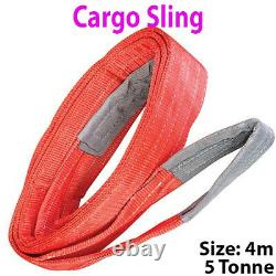 4m 5 Tonne (5000KG) Flat Webbing Strong Cargo Sling -Lifting Crane Hoist Strap