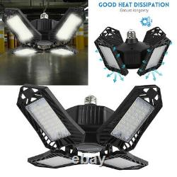 4pack LED Work Shop Light Bulb Foldable Ceiling Fixture 150W Store Outdoor