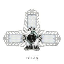 4x LED Garage Light Bulb Deformable Foldable 150W Store Indoor Outdoor