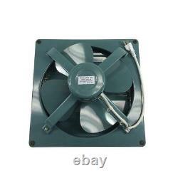 580 CFM 12 in. Green Metal Shutter Exhaust 1 Speed Fan Store Offices Shops Farm