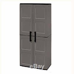 5ft Plastic Large Garage Storage Cupboard Store Shelves Unit Shed 3 Shelf New