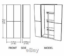 6ft Plastic Tall Large Garage Storage Broom Cupboard Store Shelves Unit Shed 5ft