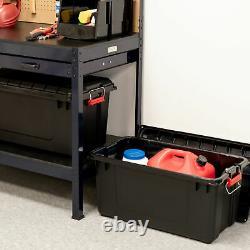 82 Qt WEATHERTIGHT Storage Box Store It All Utility Tote 2 Pack Organizer Black