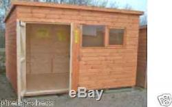 8x8 WOODEN WORKSHOP GARAGE FULLY T&G SHED STORE 8FT X 8FT APEX OR PENT ROOF