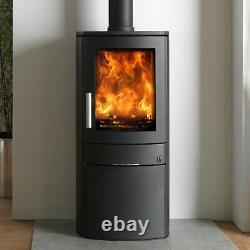 ACR Neo 1C Eco Design Ready Wood Burning Log Burner Curve Stove DEFRA Log Store