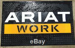 ARIAT WORK Garage Advertising Rubber Store LARGE Mat Sign 49 X 29 New RARE