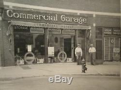 Antique Firestone Tires Texaco Poster Sign American Garage Store Motor Oil Photo