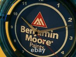 Benjamin Moore Paints Painter Garage Hardware Store Man Cave Neon Clock Sign
