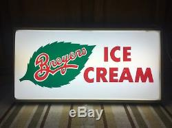 Breyers Ice Cream Sign Light Plastic Country Store Dairy Farm Garage Bar Pub