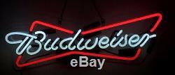 Budweiser Glass Neon light Sign Beer Bar Store Garage Party Pub Display 19x8