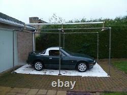 Carport shelter scaffold temporary portable single car garage workshop store