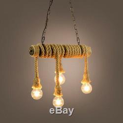 Chandelier Pendent Restaurant Vintage Brown Lights Water Pipe Store Lamp Fixture