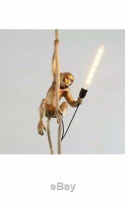 Clearing Stock Resin Monkey Pendant Lamp Cafr Store Ceiling Light Lighting Foyer