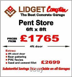 Concrete Shed, Bike Store, Small Concrete Garage Ex Demonstration 6ftW x 8ftL