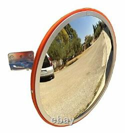 Convex Traffic Mirror 12 for Driveway, Warehouse and Garage Safety or Store and