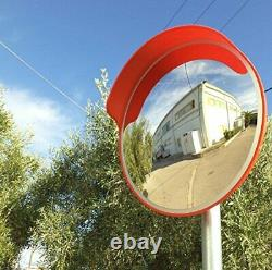 Convex Traffic Mirror 18 for Driveway, Garage and Warehouse Safety or Store and