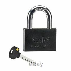 Door Security Locking Store Warehouse Storage Gate Garage Shop Lock + Rings