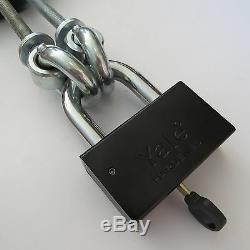 Door Security Locking Store Warehouse Storage Gate Garage Shop Lock +big Padlock