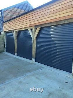 Electric roller Garage Door Insulated Composite Bifold Solid Oak Building Store