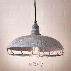 Farmhouse new SUPPLY STORE Tin Hang Light in Weathered Zinc