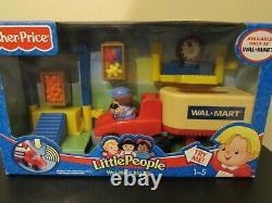 Fisher Price Little People Walmart Semi Truck Vehicle Grocery Store Garage 2005