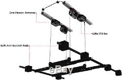 Garage Smart's Jeep Hard Top Hoist. Lift, lower, and store your Jeep Wrangler's