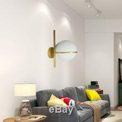 Gold Glass LED Light Toilet Garage Vestibule Stairwell Furniture Store Wall Lamp