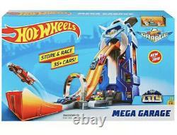 Hot Wheels City Mega Garage set, 35+ Cars Store & Race For Children