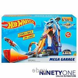 Hot Wheels Mega Garage 35+ Car Storage System Crank Swinging Carousels Store
