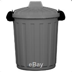 Klip It Bin Store Rubbish And Refuse Strong Clips On Lid For Secure Shut Grey 7L