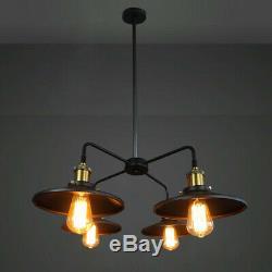 LED Retro Balck Pot Chandelier Store Pendant Lamp Lighting Ceiling Light Fixture