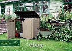 Large KETER MAX Store 4x5 FT Outdoor Garden Storage Shed Garage Backyard Bikes