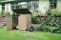Large KETER Plastic Store 4x5ft Outdoor Garden Storage Shed Garage Backyard Bike