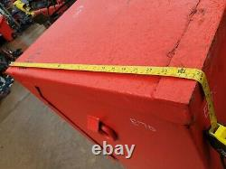 Large Red Site Store tool box van truck Workshop Garage, with key £360+vat E70