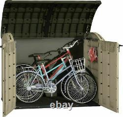 Large XXL KETER Ultra 6x4FT Store Outdoor Garden Storage Shed Garage 2000L Bikes