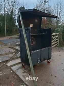 Large black Site Store tool box van vault garage needs attention £175+vat E28