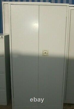 Large steel 2 door filing storage cabinet home office garage Coventry tool store