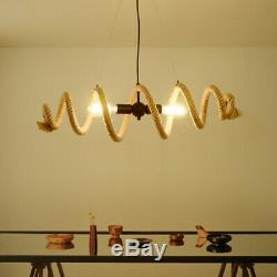 Loft Hemp Chandelier Restaurant Lighting Clothing Store Ceiling Fixtures Pendent