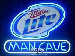 Man Cave Miller Lite Neon Light Garage Restaurant Decor Store Bar Neon Sign