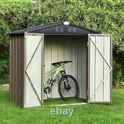 Metal Garden Shed 6X4 3X5 Ft Yard Store Tools Box Storage House Garage with Lock